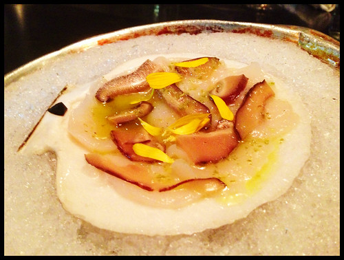 Gloucester Scallop, Yuzu Kosho, Pickled Shiitake