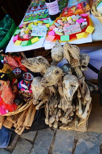 Dried llama fetuses
