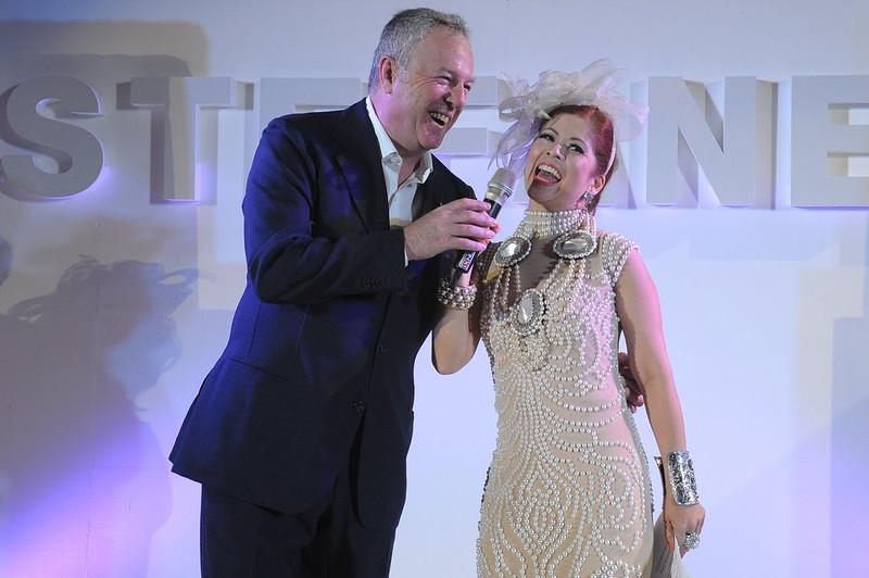 Giuseppe Stefanel and Tessa Prieto Valdes