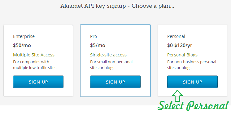 Akismet Config 2