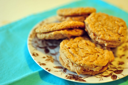 Oatmeal Peanut Butter Sandwich Cookies 3