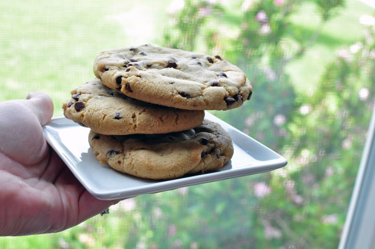 Bakery Style Chocolate Chip Cookies 3