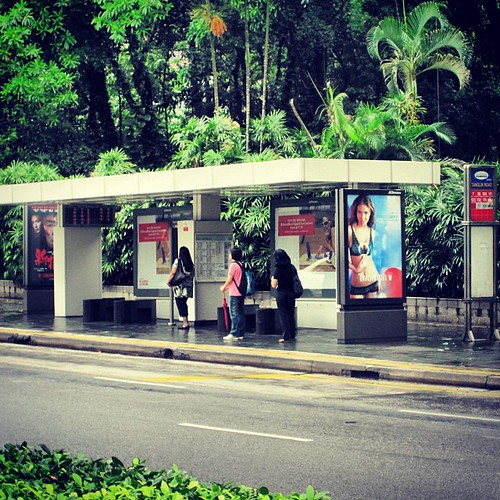 Bus Stop on Orchard Rd #singapore so clean and no graffiti by @MySoDotCom