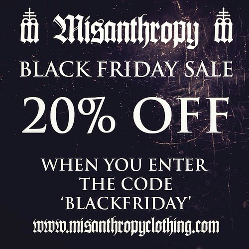 Misanthropy Clothing Black Friday Sale