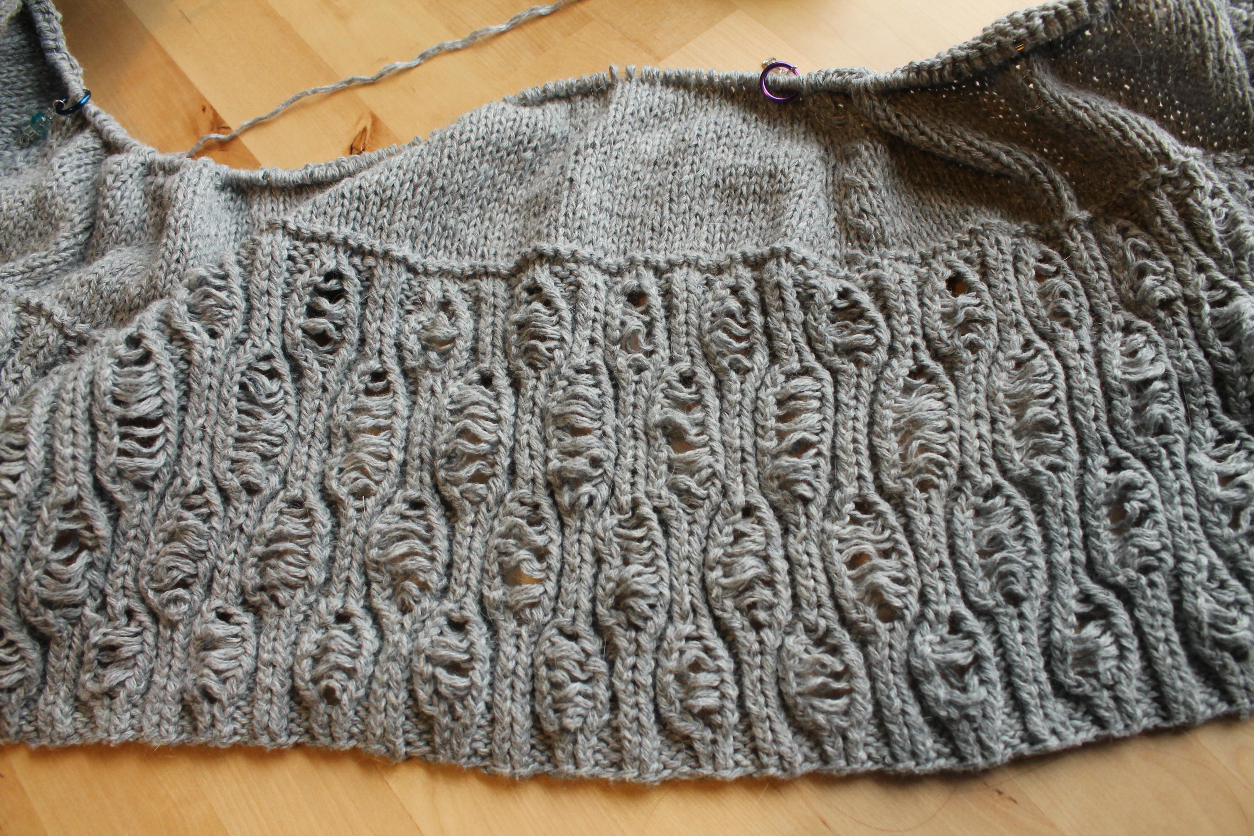 Roheline cardigan (in progress)