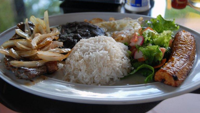 Casado - Steak, Egg, Plantain, Rice, Beans