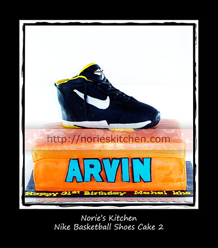 Norie's Kitchen - Nike Basketball Shoe Cake 2 by Norie's Kitchen