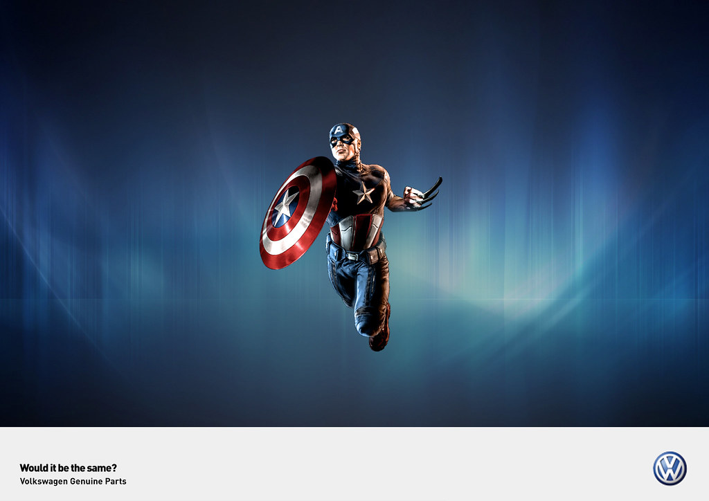 Volkswagen Genuine Parts - Would it be the same? Captain America Wolverine