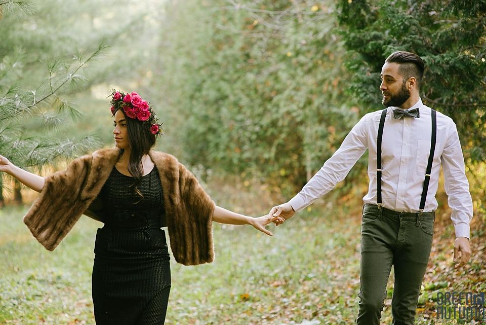 Wedding Creative Inspiration Hamilton Woodland engagement Photography 0026