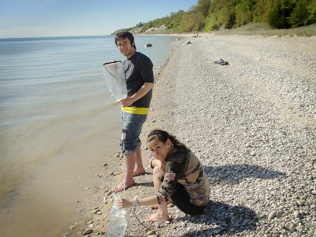 Filtering Lake Michigan water
