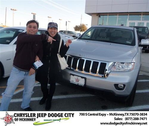 Happy Anniversary to Long Nguyen on your 2013 #Jeep #Grand Cherokee from David Campos  and everyone at Dodge City of McKinney! #Anniversary by Dodge City McKinney Texas