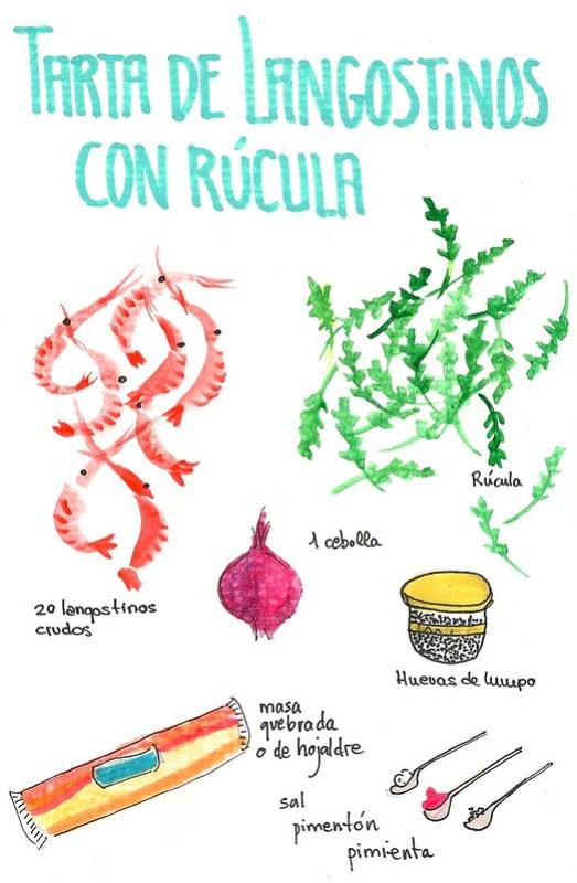 Tarta de Langostinos ilustracion