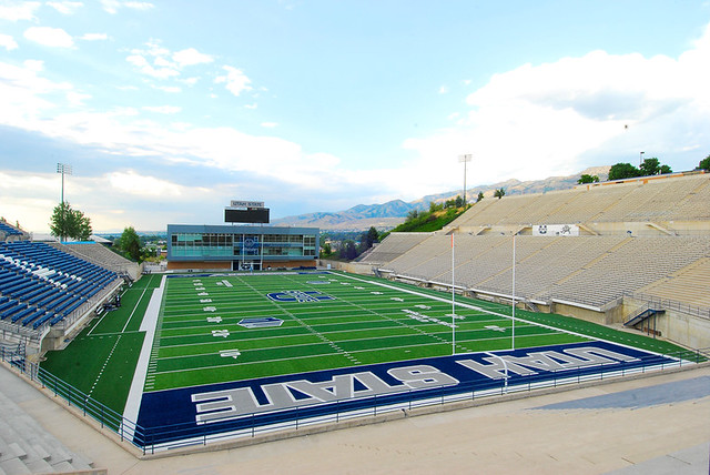 Romney Stadium at Utah State University