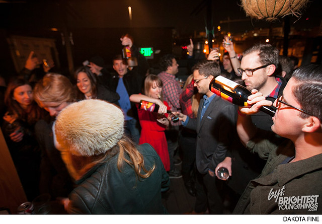 "BYT hosts their annual Beaujolais Nouveau party, \""Beaujolaid,\"" at 1905 restaurant in Washington, DC on November 20, 2013."