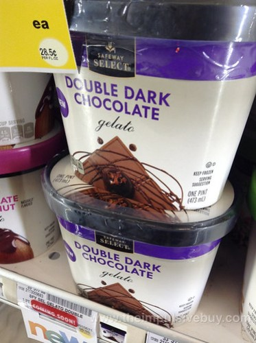 Safeway Select Double Dark Chocolate Gelato
