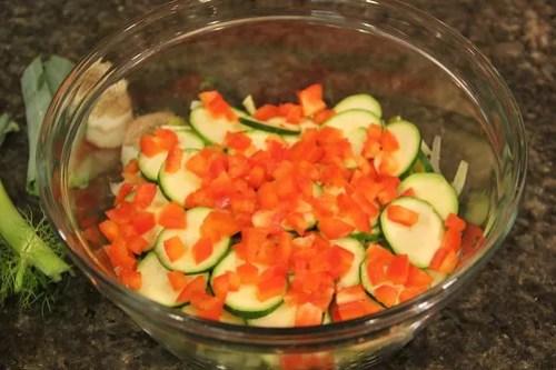 Leeks and Fennel Salad