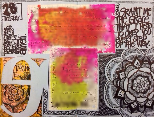 Art Journal Every Day: HOPE - a multi page layout