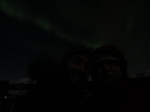lena and me, under the aurora skies