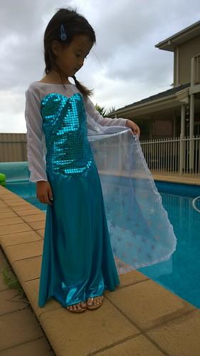 My Little Queen Elsa in her Birthday Dress!