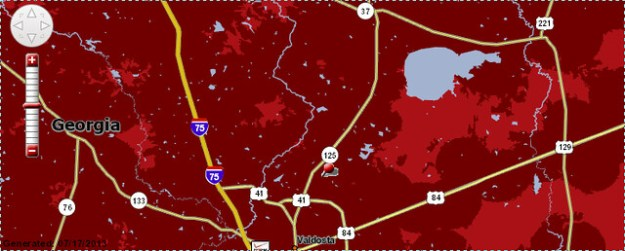 Verizon coverage map (top)