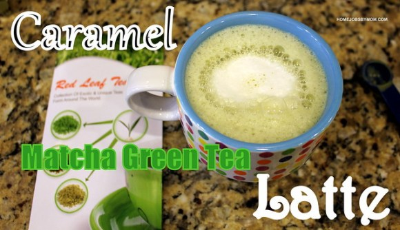 caramel matcha green tea latte