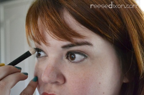 Setting mascara Step 2