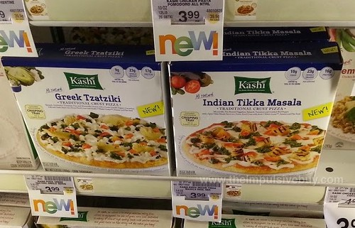 Kashi Greek Tzatziki and Indian Tikka Masala Pizza