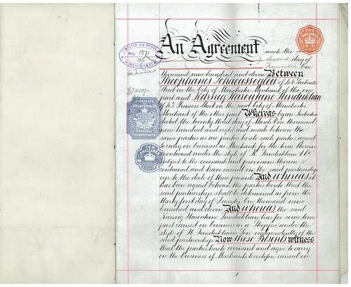 Business Agreement between Mr F. Schaoussoglou and Mr K. H. Funduklian