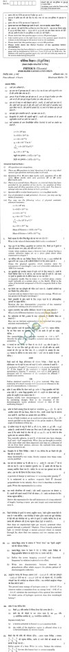 CBSE Compartment Exam 2013 Class XII Question Paper - Physics for Blind Candidate