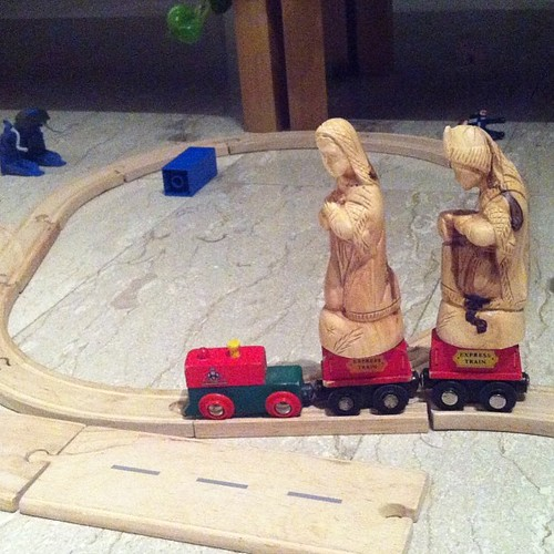 Modern day travel for Mary and Joseph by nikki.j.thorpe