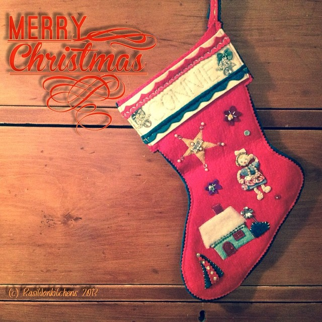 Dec 6 - stocking {this is mine; it was made for me when I was just 4 years old} #photoaday #christmas #stocking #handmade