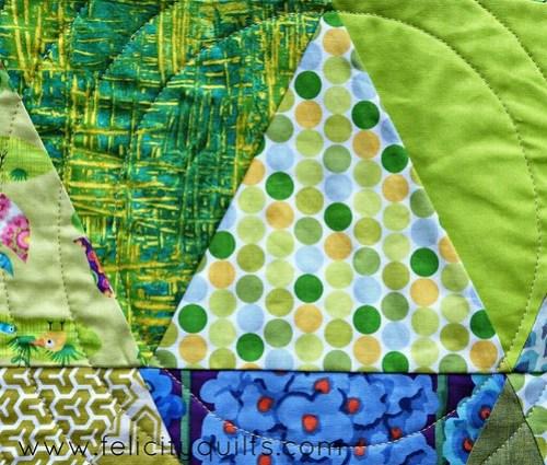 Triangle Garden quilting