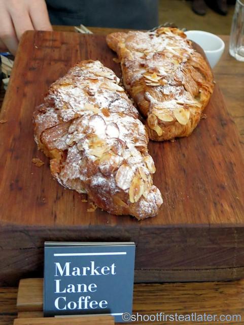 Market Lane Coffee- almond croissant