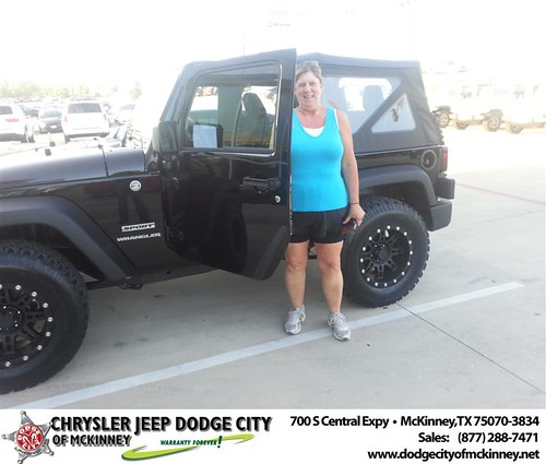 Dodge City of McKinney would like to say Congratulations to Lori Morgan on the 2013 Jeep Wrangler from Nichole Betts by Dodge City McKinney Texas