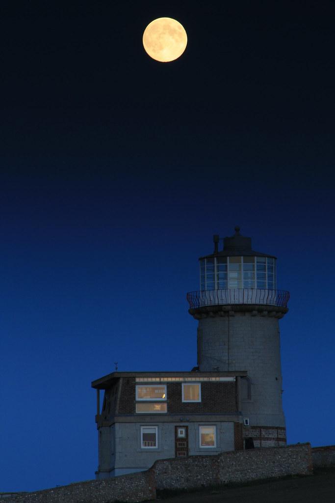 Full Moon over The Belle Toute Lighthouse
