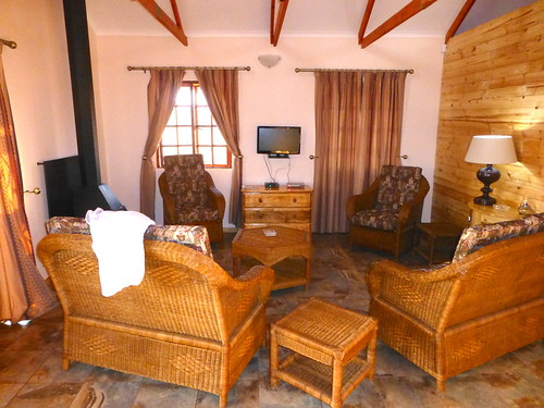 The inside of the cottage