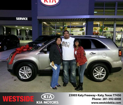 Thank you to Rosa Sanchez on your new 2015 #Kia #Sorento from Rubel Chowdhury and everyone at Westside Kia! #NewCar by Westside KIA