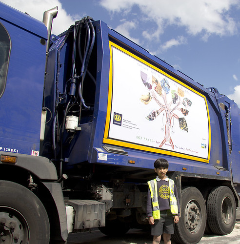 Image: Rohan Praveen with Recycling Vehicle