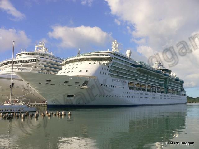 Cruise Ships dock in Antigua