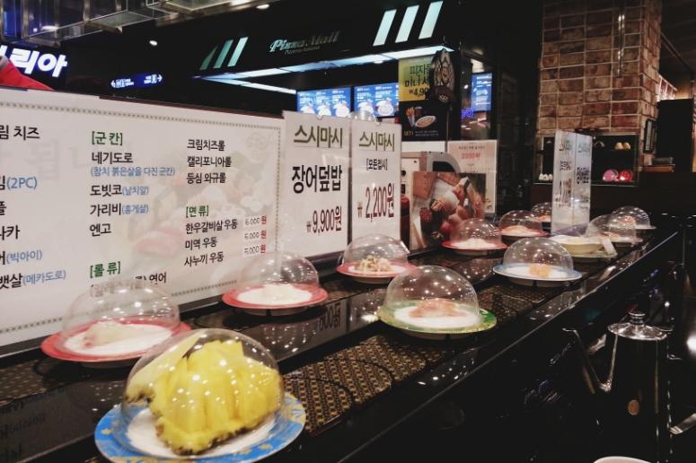 sushi go round / donga dept store / downtown Daegu