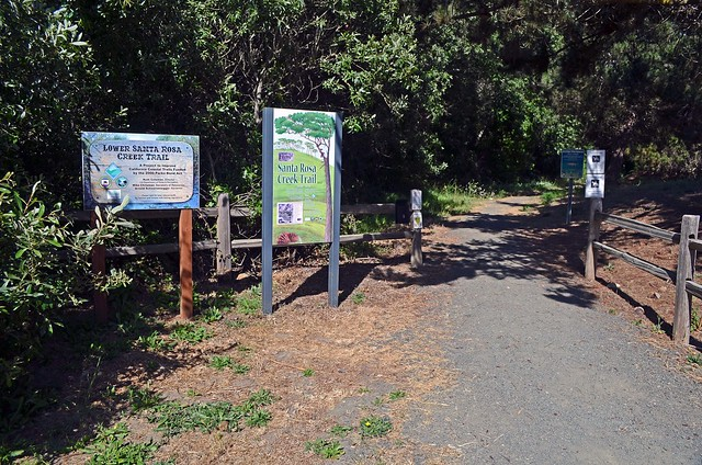 The start of the Santa Rosa Creek Trail is well-signed.