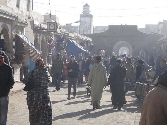 Crowds in the Medina