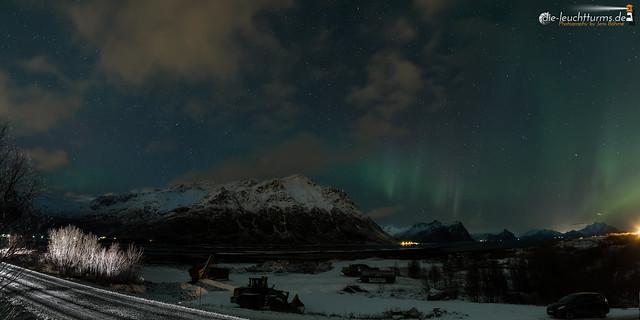 Northern lights above Lofoten