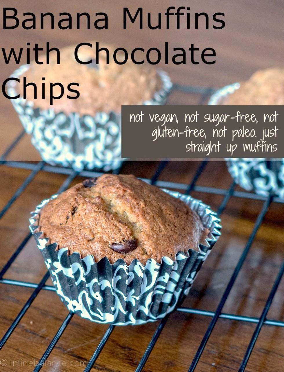 Banana Chocolate Chip Muffins | www.infinebalance.com