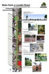 Bike Walk Lincoln Park's proposal for Clark Street.