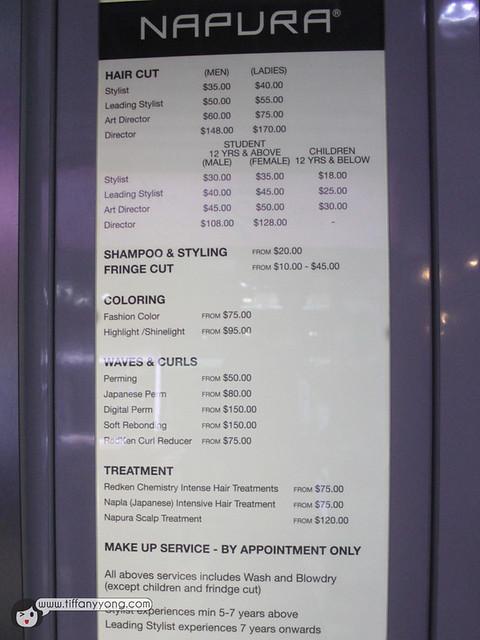 hair profile pricing