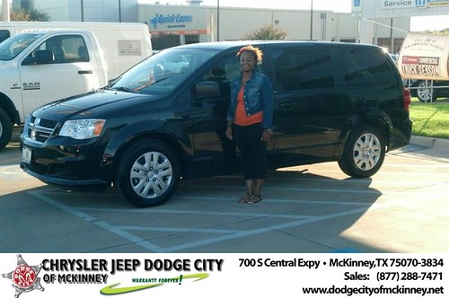 Thank you to Shakita  Buckner on your new 2014 #Dodge #Grand Caravan from Bobby Crosby and everyone at Dodge City of McKinney! #RollingInStyle by Dodge City McKinney Texas
