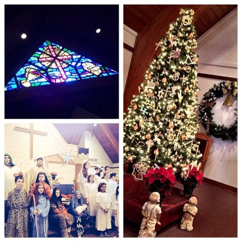 Pretty Christmas Service, decorations and nativity play. #latergram