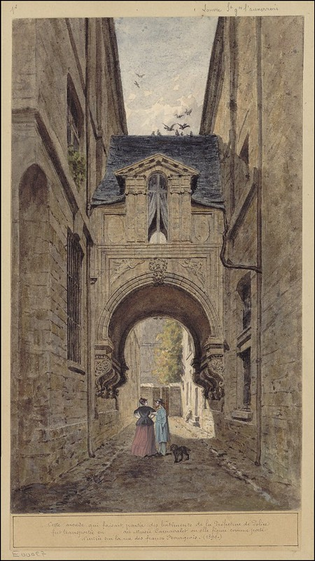 Cette arcade qui faisait partie des bâtiments de la Préfecture de Police..(1890)