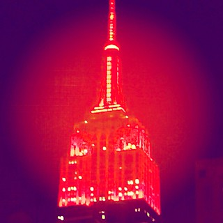 The Empire State Building setting the mood for New York City